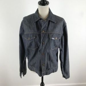 Vintage Roebucks Raw Denim Jacket Selvedge Soft